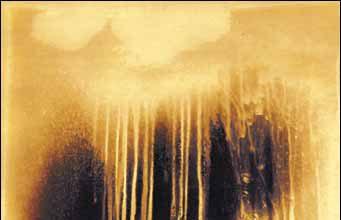 Yves Klein, Peinture de feu, sans titre, 1961.