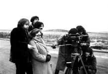 Marguerite Duras sur le tournage du film