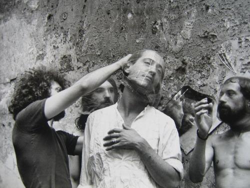 Tournage du film Cristo de Teo Hernández, 1977