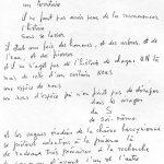 Texte manuscrit de Fernand Deligny in
