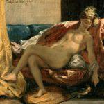 Eugène Delacroix - Femme caressant un perroquet - 1827