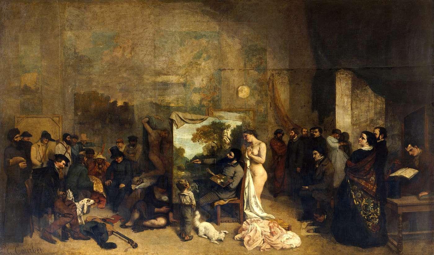 Gustave Courbet - L'Atelier du peintre, allégorie réelle déterminant une phase de sept années de ma vie artistique et morale - 1854 1855