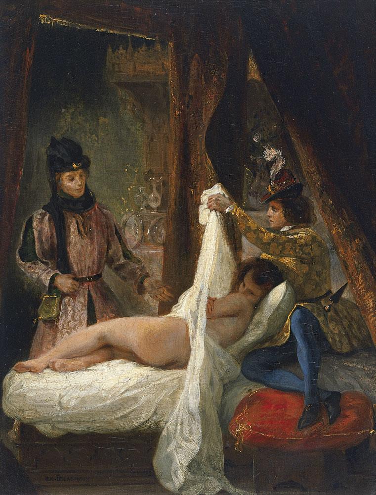 Eugène Delacroix - The Duke of Orléans showing his Lover - 1825-26