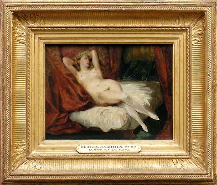 Eugène DELACROIX - Etude de femme nue, couchée sur un divan ou La femme aux bas blancs - Vers 1825 - 1830