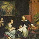 Eugène Delacroix - Milton dictated to his daughters the (Paradise Lost)