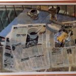 Petit déjeuner au balcon - Peinture - François Jousselin : env. 1992