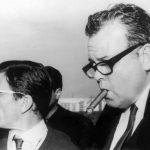 Orson Welles sur le tournage de La Ricotta © D.R..
