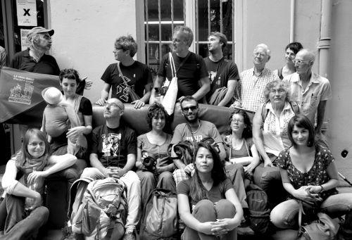Samedi 28 juin, La Croix-Rousse, le groupe de marcheurs.